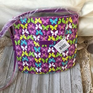 Vera Bradley Butterfly Crossbody purse bag